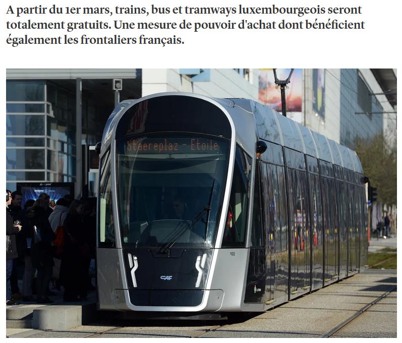 Stimuler les transports publiques