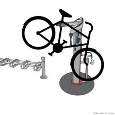 Bornes de réparation et de gonflage pour vélo