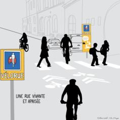 Expérimenter les vélorues à Angers