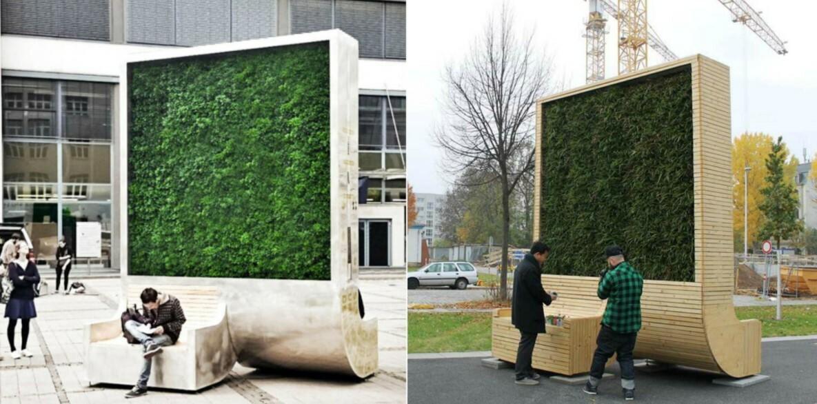 Installer des CityTree (banc avec mur végétal intégré) pour améliorer la qualité de l'air en ville