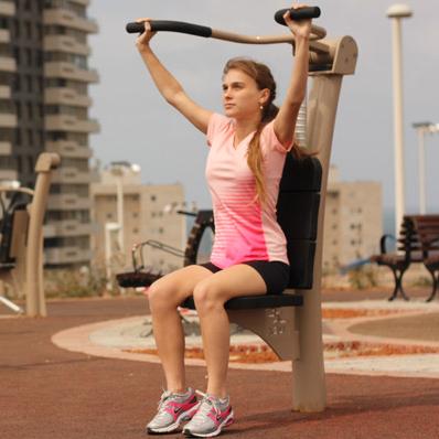 Espace ouvert de musculation / fitness en ville