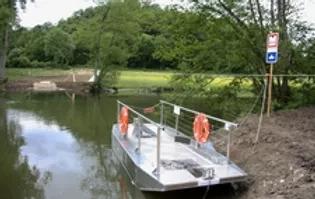 Passage pour les vélos des rivières: mise en place de bac à chaine/traille