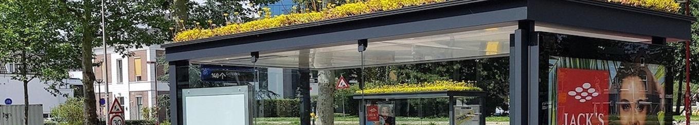 Fleurir le toit des abribus.