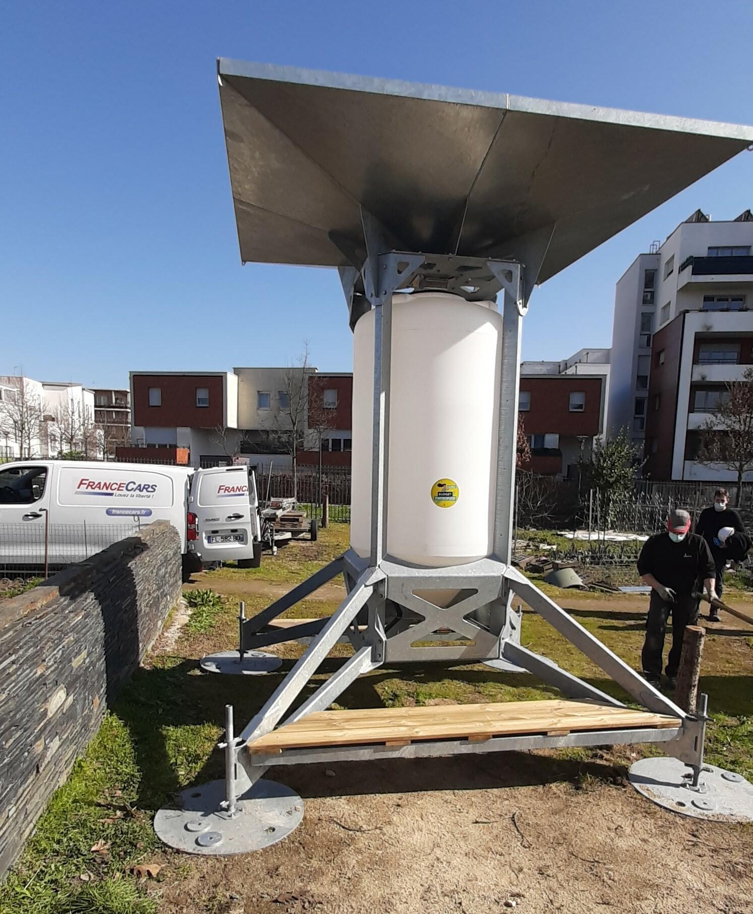 Récupérateur d'eau de pluie collectif