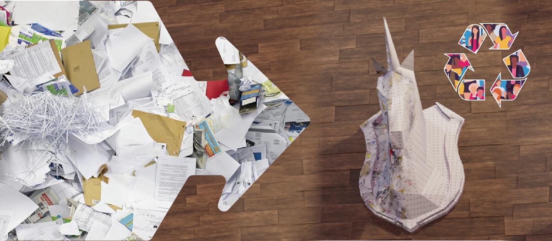 """Des Micro-usines participatives de revalorisation directe des déchets  """"jaunes"""" (Cartons, papier, etc.)"""