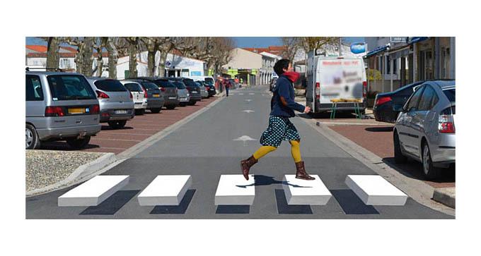 Rue du Mail - Circulation protégée des piétons
