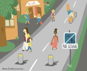 7/ Sécurité et convivialité aux abords des écoles d'Angers : la rue scolaire
