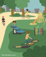 5/ Des jeux sensoriels au parc Desjardins
