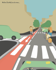 11/ Renforcer la visibilité des contre-sens cyclables en ville