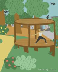 22/ Des «plateformes Zen» dans les parcs et jardins publics