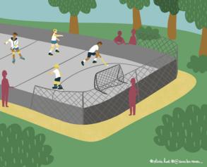 29/ Terrain extérieur de roller hockey et sports de glisse à Angers