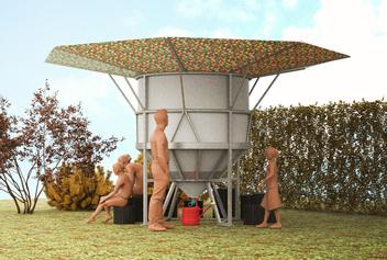 Récupérateurs d'eau de pluie collectifs