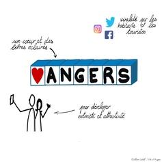 """23 / """"♥ ANGERS"""" en lettres géantes"""