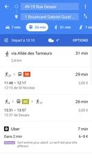 Exemple d'un itinéraire à Nantes