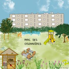 22/ Renouveler et développer le parc quartier Eblé - Rue des Oisonnières