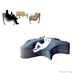 35/ Des fauteuils et des bancs dans l'espace public