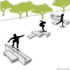 """39/ Un aménagement """"Skateable"""" dans une approche artistique"""